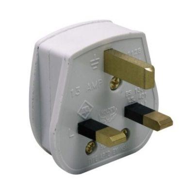 13A White Plug