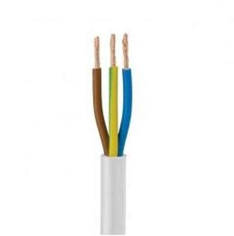 1.0mm 2 core white electric cable per meter cut to length