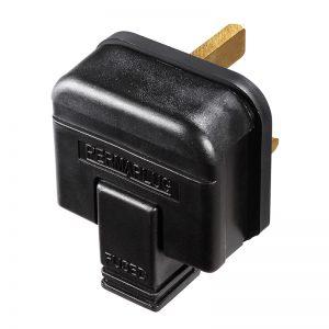 Permaplug 13A Black Plug